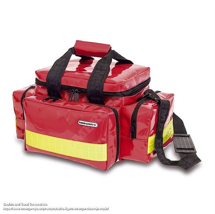Bolsa Ligera Emergencias de Tarpaulin Roja Modelo EM13.021