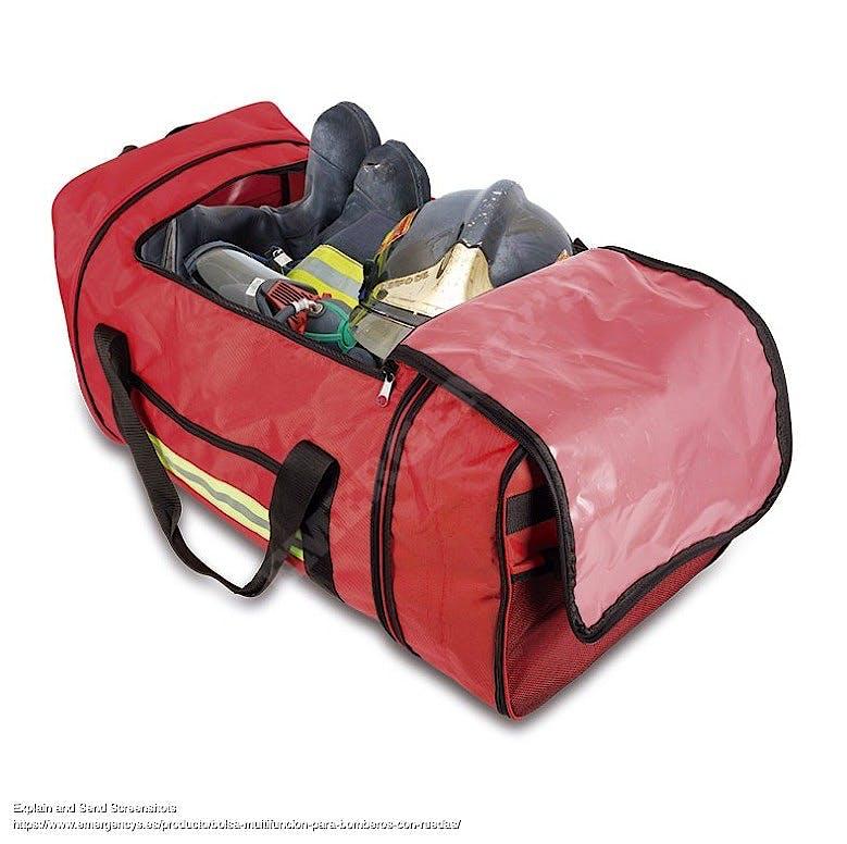 Bolsa Bomberos Porta Manguera con Ruedas Modelo Epi EM13.020, Color Rojo