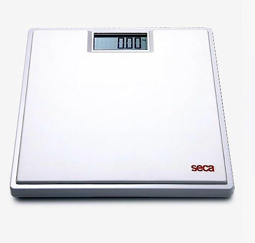 """Báscula Electrónica de Suelo SECA Mod. 803 """"Clara"""" Color Blanco, Capacidad 150 kg., División 100 g., Alimentación a Pilas"""