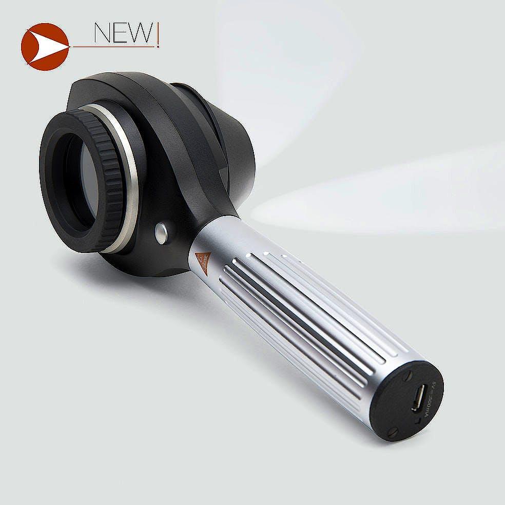 Dermatoscopio Digital Heine NC2 con Disco de Contacto con Escala, Mango USB, Cable USB con Fuente de Alimentación