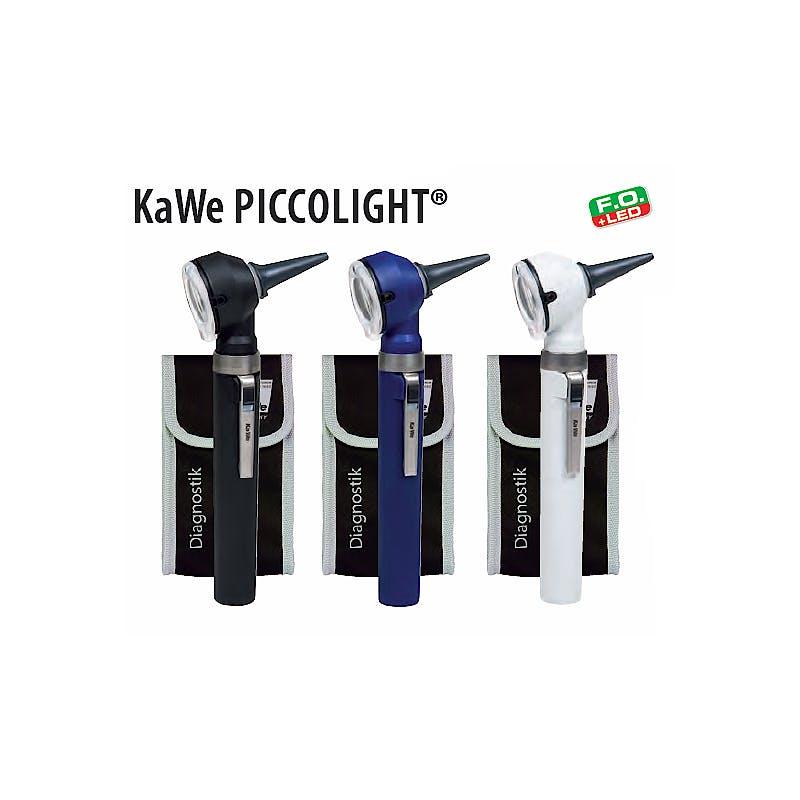 Otoscopio Kawe Piccolight LED F.O. 2,5 V. Negro.