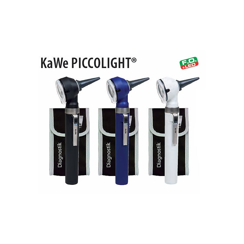 Otoscopio Kawe Piccolight LED F.O. 2,5 V. Blanco