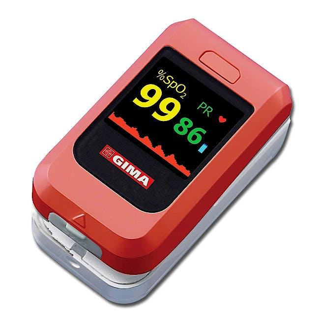 Pulsioximetro de Dedo Gima Oxy-10 Kit con Sensor Adultos Incorporado, Sensor Neonatal y Pediatrico por Usb