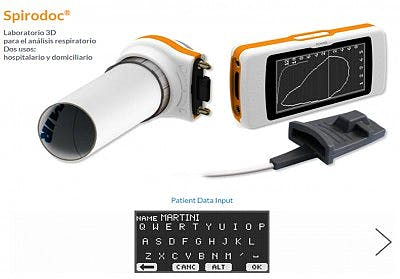 Spirodoc: Espirómetro Completo 'One Touch Easy' Turbina Reusable
