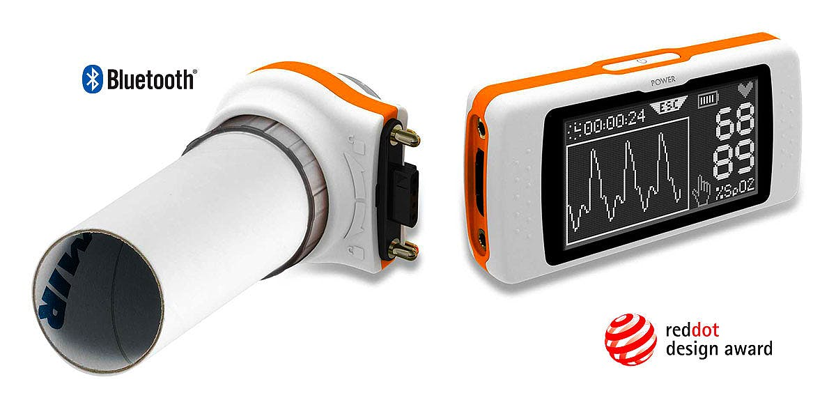 Spirodoc: Espirómetro completo 'One Touch Easy' Turbinas Desechables
