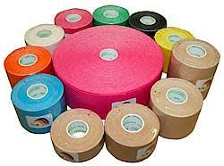 Temtex Kinesiology Tape: Caja de 6 Rollos de 5 m. x 5 cm., Color Negro