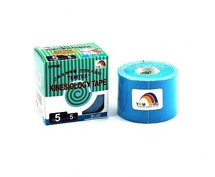 Temtex Kinesiology Tape: Caja de 6 Rollos de 5 m. x 5 cm., Color Azul