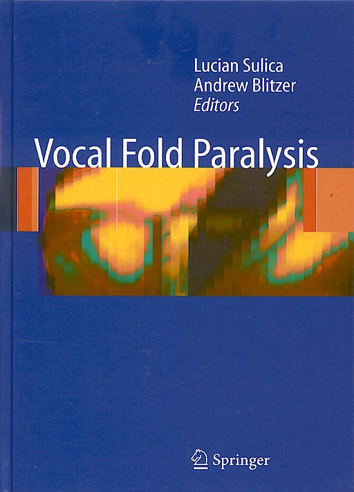 Portada del libro 9783540237655 Vocal Fold Paralysis