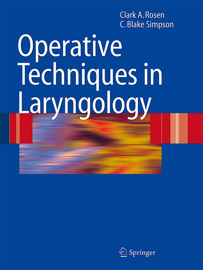 Portada del libro 9783540258063 Operative Techniques in Laryngology