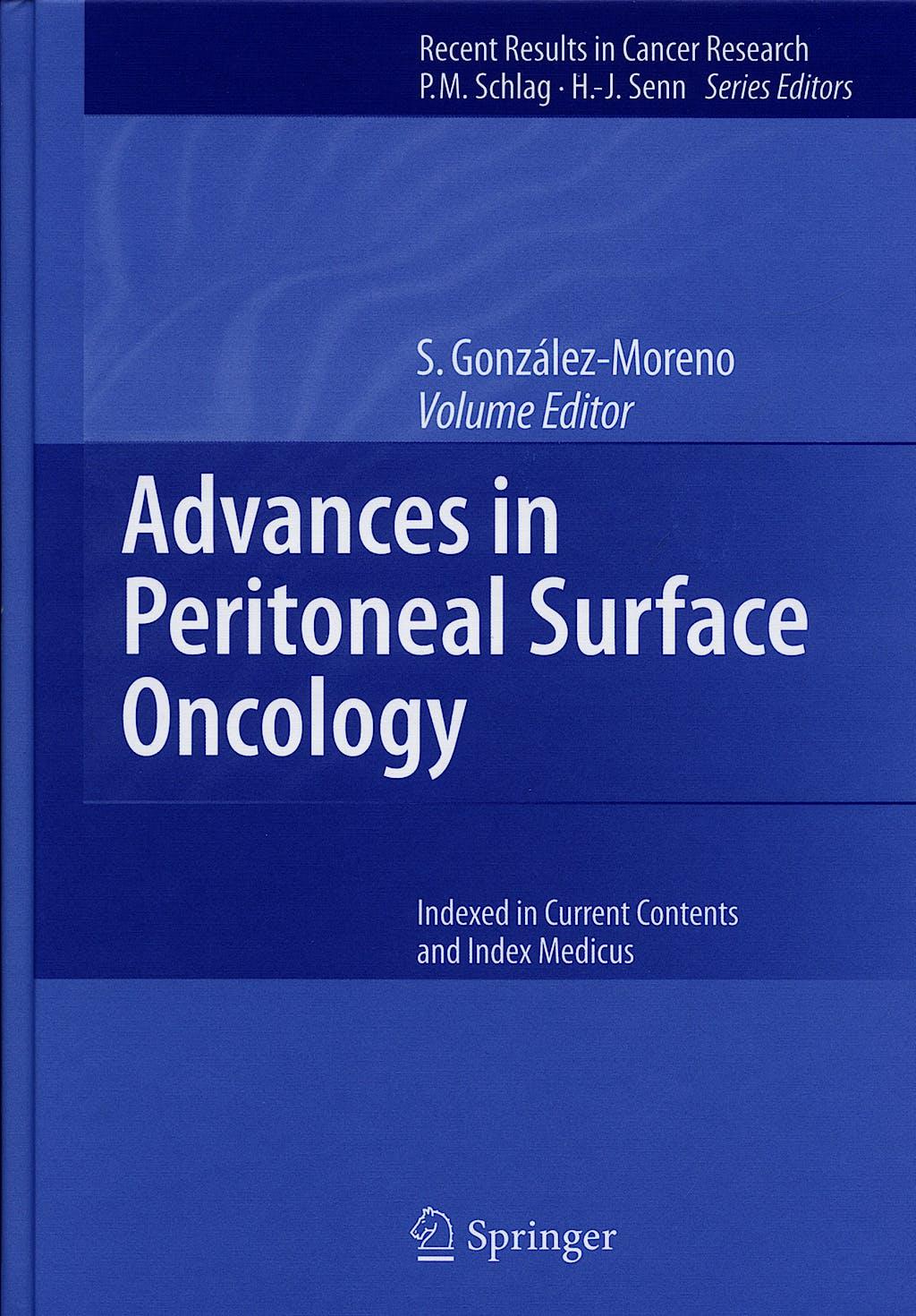 Portada del libro 9783540307594 Advances in Peritoneal Surface Oncology