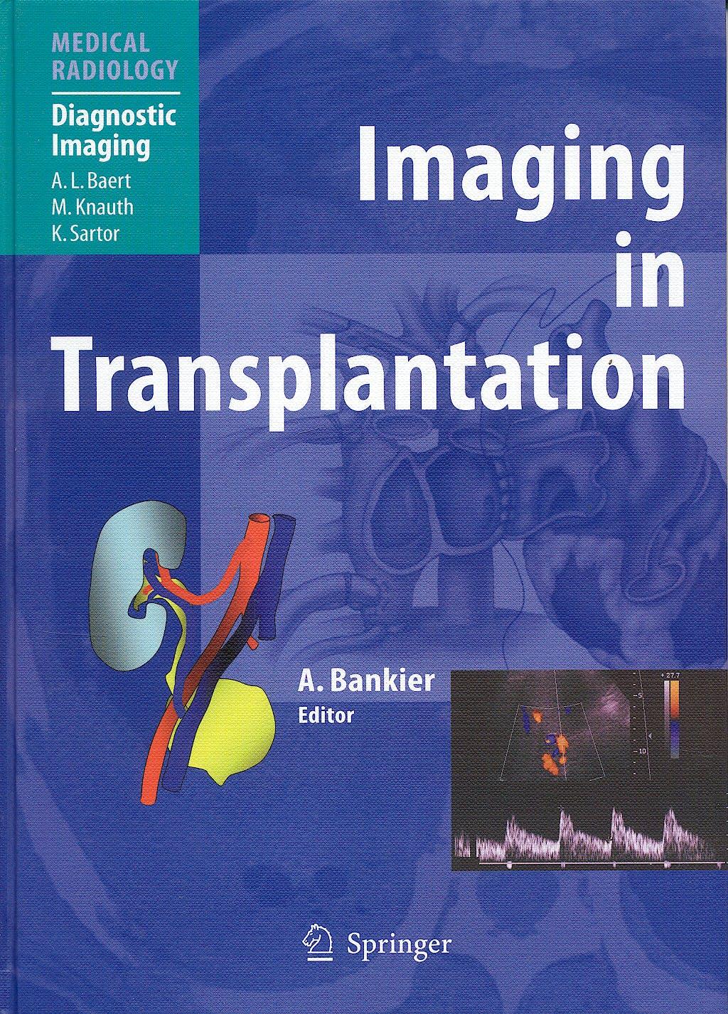 Portada del libro 9783540402299 Imaging in Transplantation