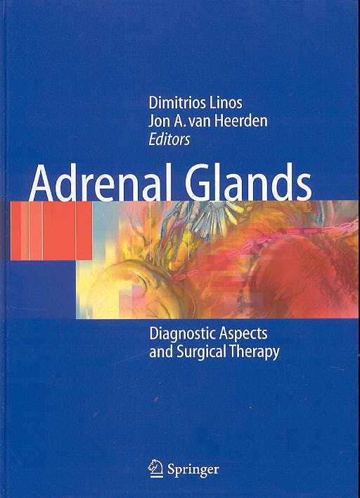 Portada del libro 9783540410997 Adrenal Glands. Diagnostic Aspects and Surgical Therapy