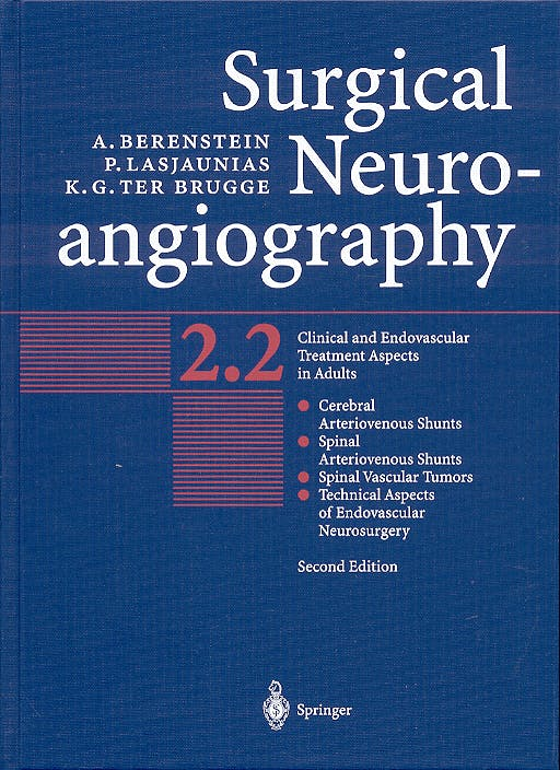 Portada del libro 9783540416685 Surgical Neuroangiography, Vol 2: Part 2.1 & Part 2.1