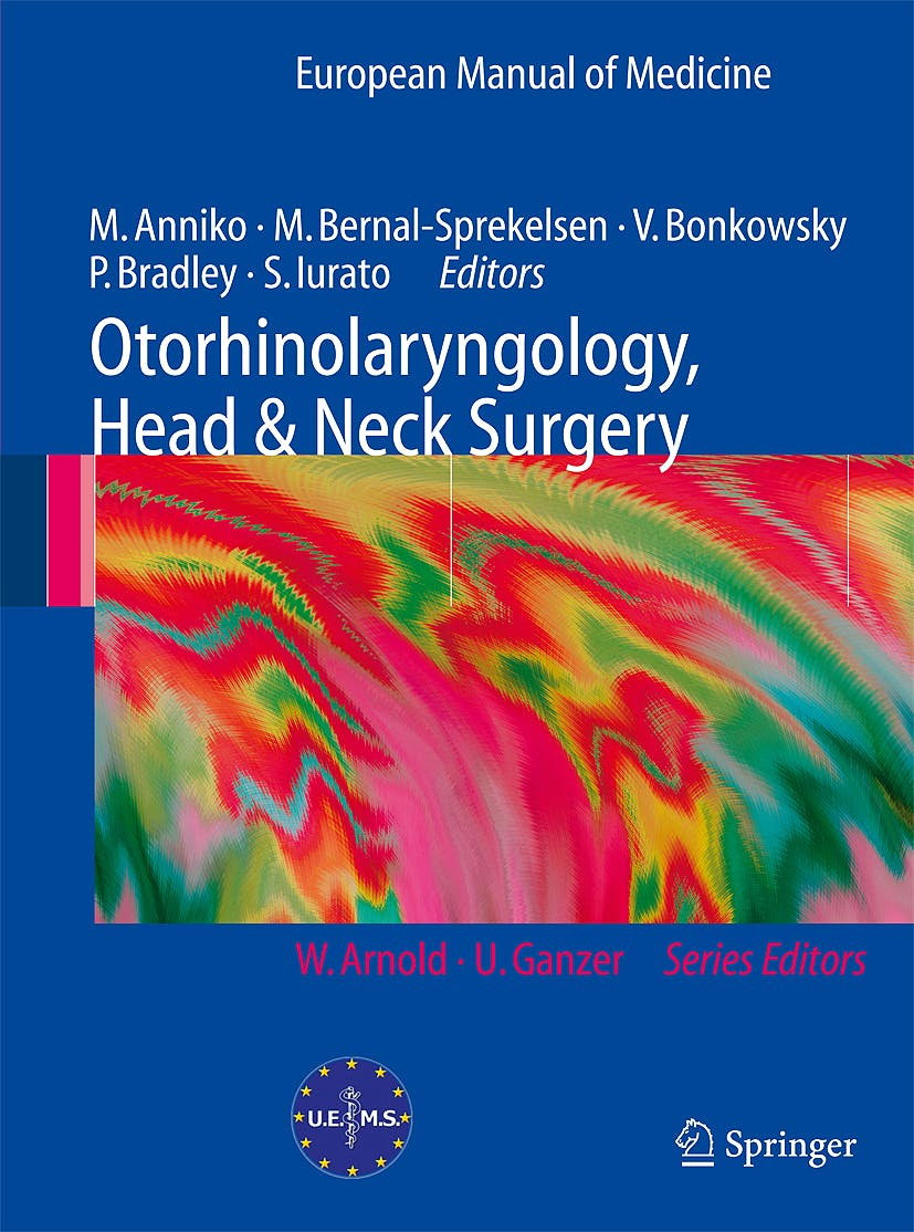 Portada del libro 9783540429401 Otorhinolaryngology, Head and Neck Surgery (European Manual of Medicine)