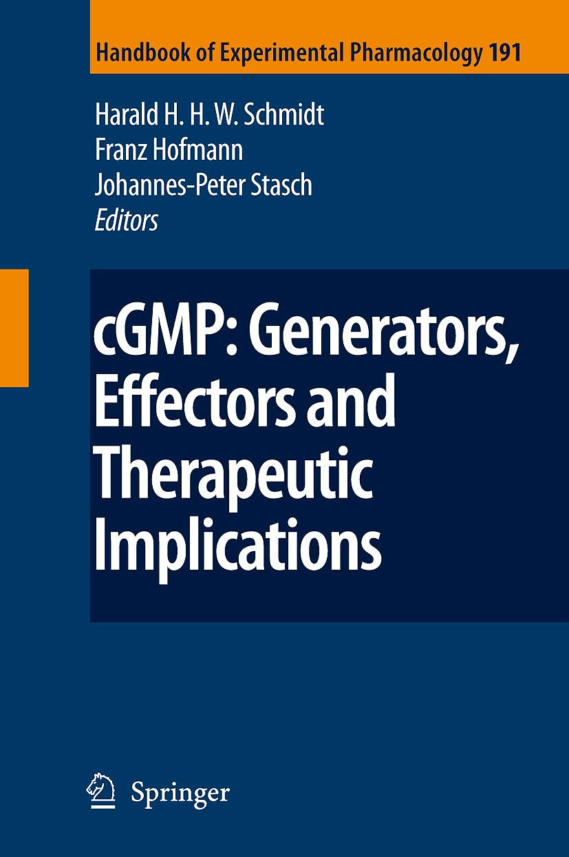 Portada del libro 9783540689607 Cgmp: Generators, Effectors and Therapeutic Implications