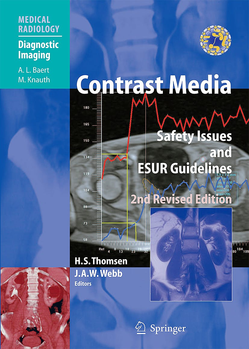 Portada del libro 9783540727835 Contrast Media. Safety Issues and Esur Guidelines