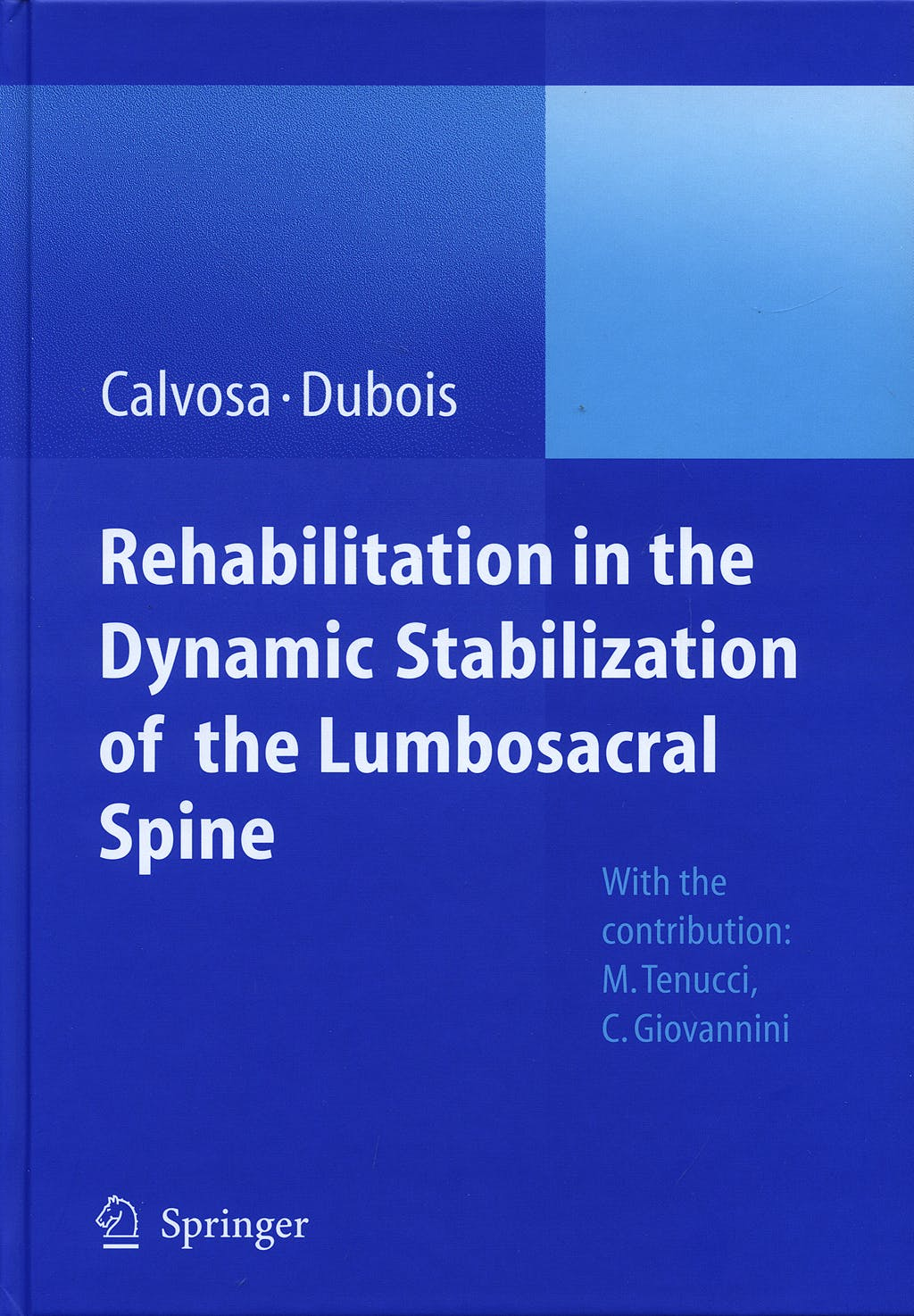 Portada del libro 9783540738015 Rehabilitation in the Dynamic Stabilization of the Lumbosacral Spine