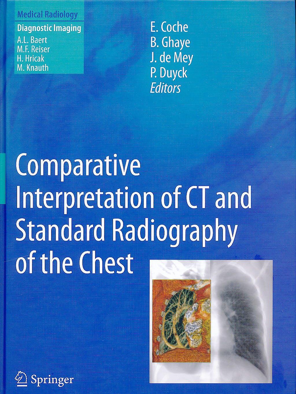 Portada del libro 9783540799412 Comparative Interpretation of Ct and Standard Radiography of the Chest