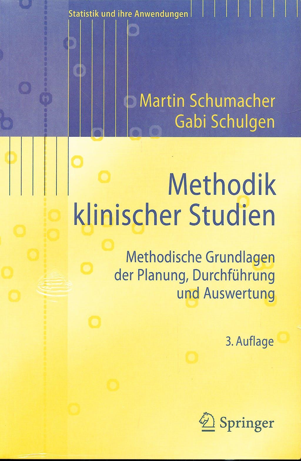 Portada del libro 9783540851356 Methodik Klinischer Studien