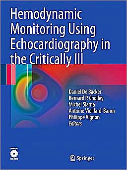 Portada del libro 9783540879541 Hemodynamic Monitoring Using Echocardiography in the Critically Ill + Dvd