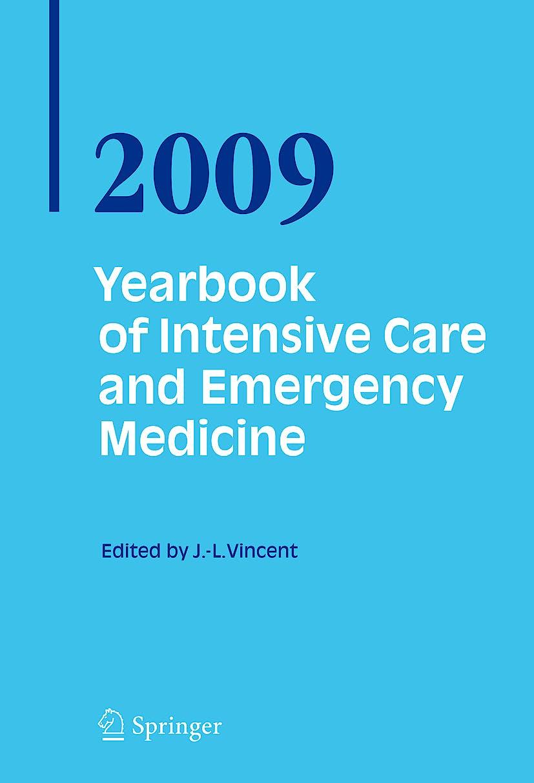 Portada del libro 9783540922759 Yearbook of Intensive Care and Emergency Medicine 2009