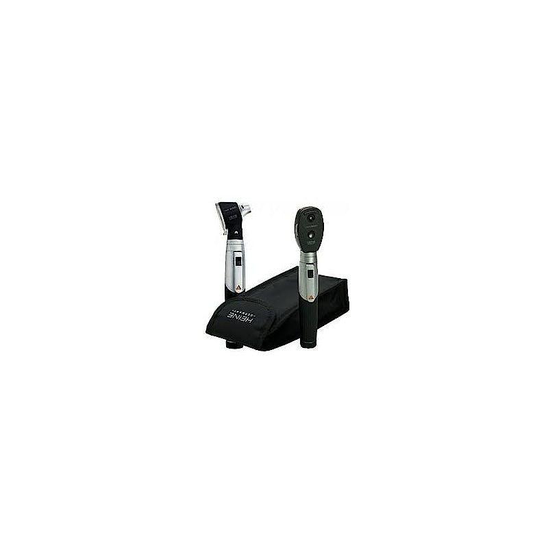 Set Oftalmoscopio-Otoscopio Heine Mini 3000, con 1 Mango a Pilas, en Estuche Blando