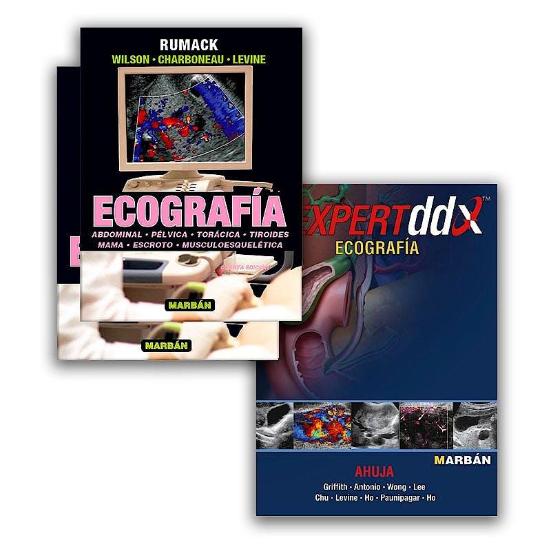 Portada del libro 9783630875798 Ecografía, 2 Vols. + Expert DDX Ecografía