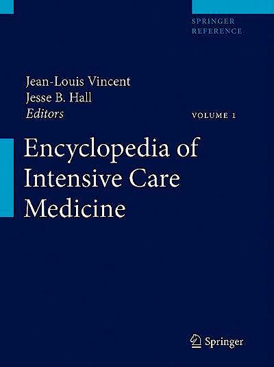 Portada del libro 9783642004179 Encyclopedia of Intensive Care Medicine, 4 Vols.