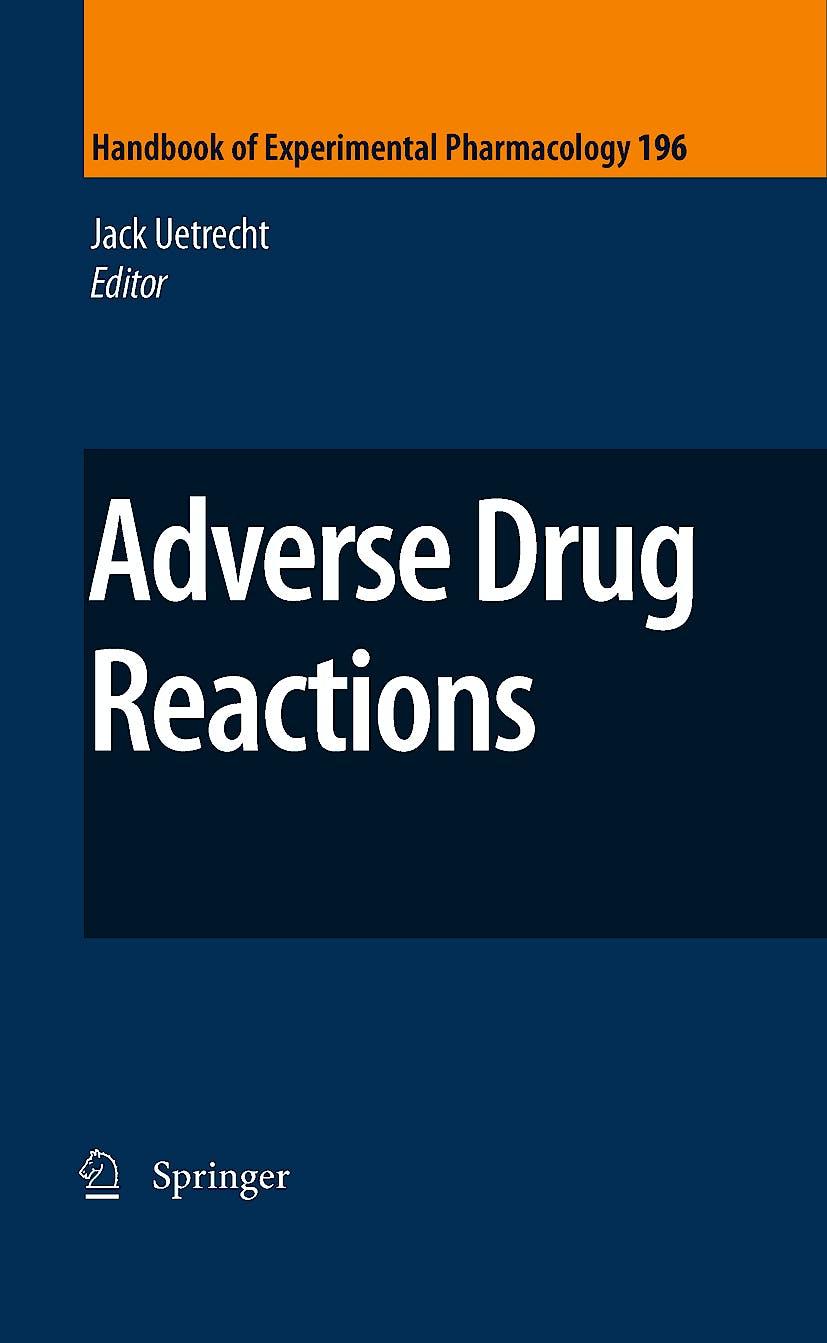 Portada del libro 9783642006623 Adverse Drug Reactions (Series: Handbook of Experimental Pharmacology, Vol. 196)