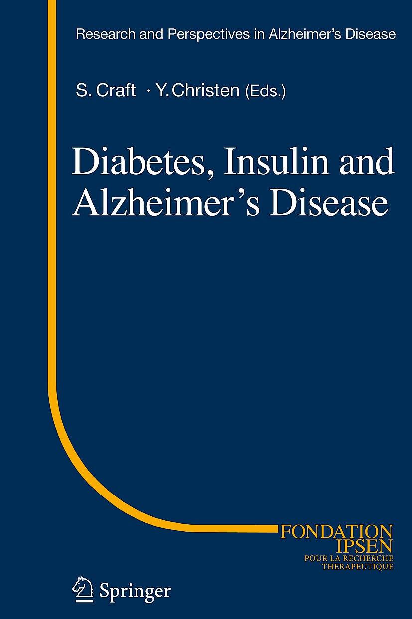 Portada del libro 9783642042997 Diabetes, Insulin and Alzheimer's Disease