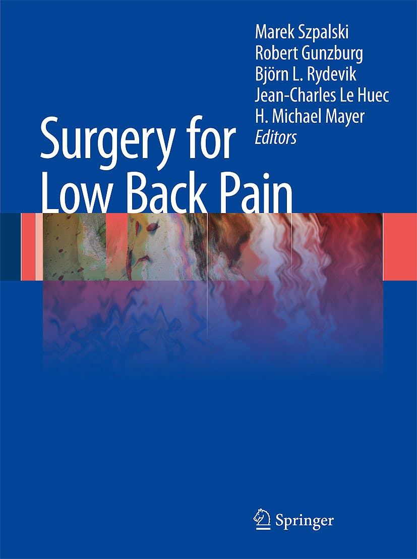 Portada del libro 9783642045462 Surgery for Low Back Pain