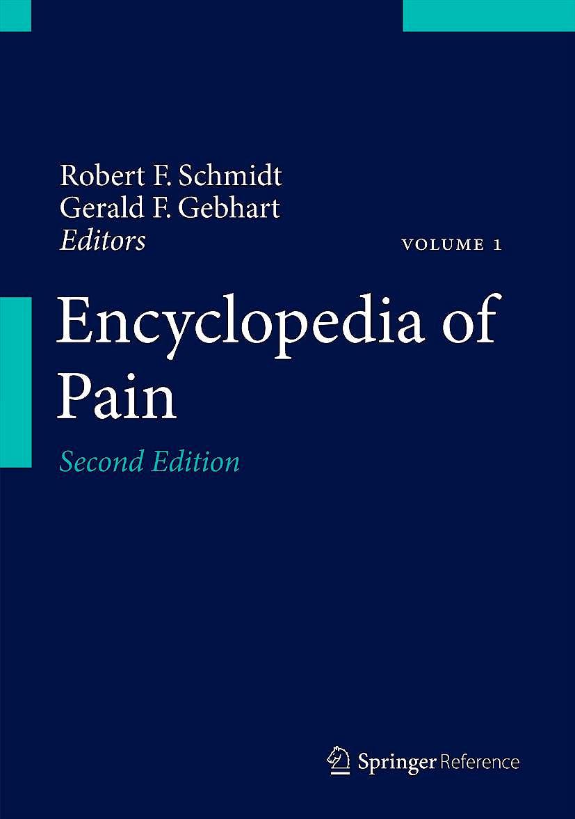 Portada del libro 9783642287527 Encyclopedia of Pain, 7 Vols.