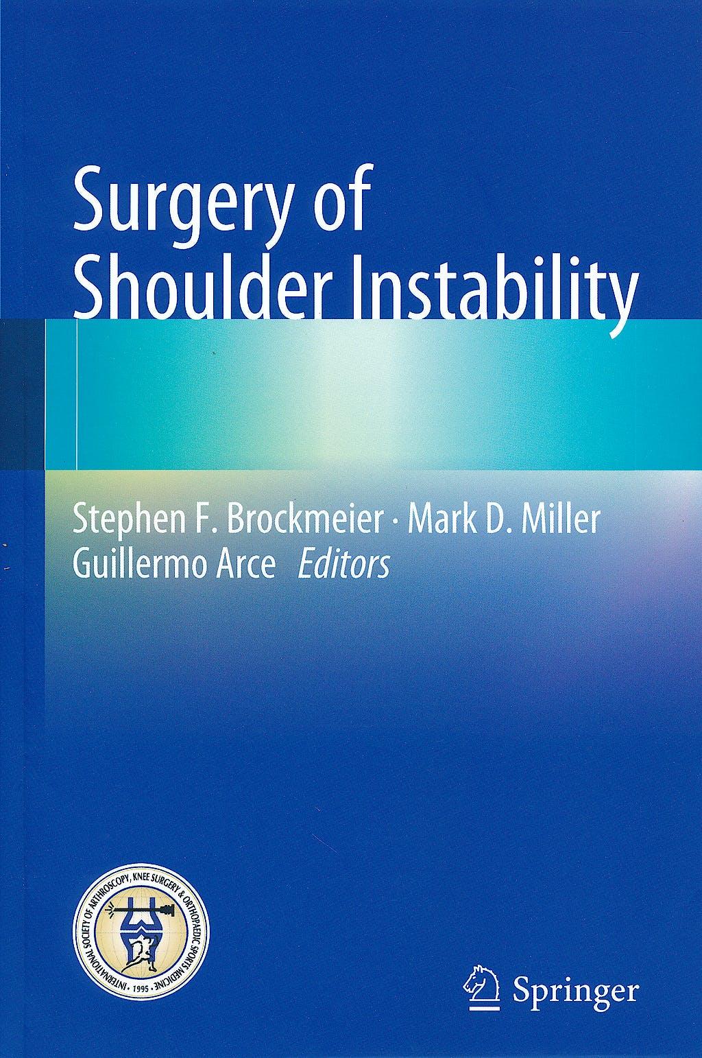 Portada del libro 9783642380990 Surgery of Shoulder Instability