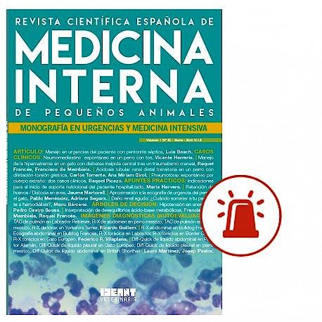 Portada del libro 9783746012728 Revista Científica Española de Medicina Interna de Pequeños Animales. Monografía en Urgencias y Medicina Intensiva (Vol. 1, Nº 8, Marzo-Abril 2018)
