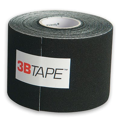 3B Tape Negro Kinesiology Tape, Rollo de 5 cm. x 5 m.