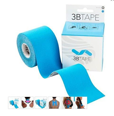 3B Tape Azul Kinesiology Tape, Rollo de 5 cm. x 5 m.