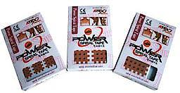 Cross Taping Power Spiral Tape, Tipo A: Caja de 180 Unidades: Cruzado de 3 X 4 Lineas con Espacio de 3 mm., 9 Parches por Lamina