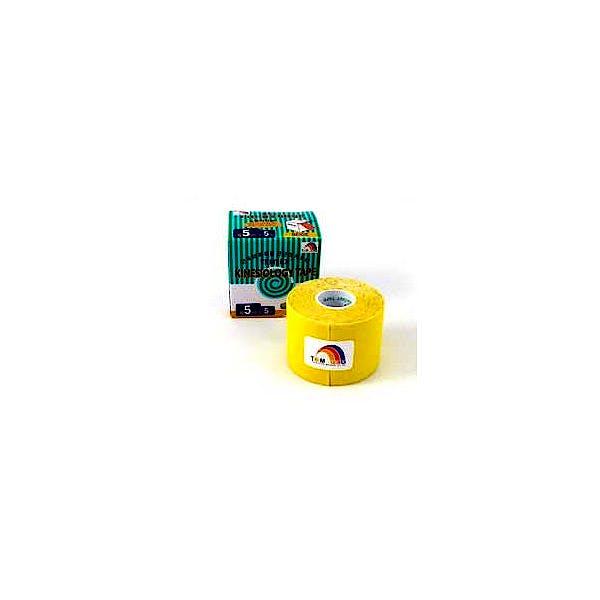 Temtex Kinesiology Tape: Caja de 6 Rollos de 5 m. x 5 cm., Color Amarillo