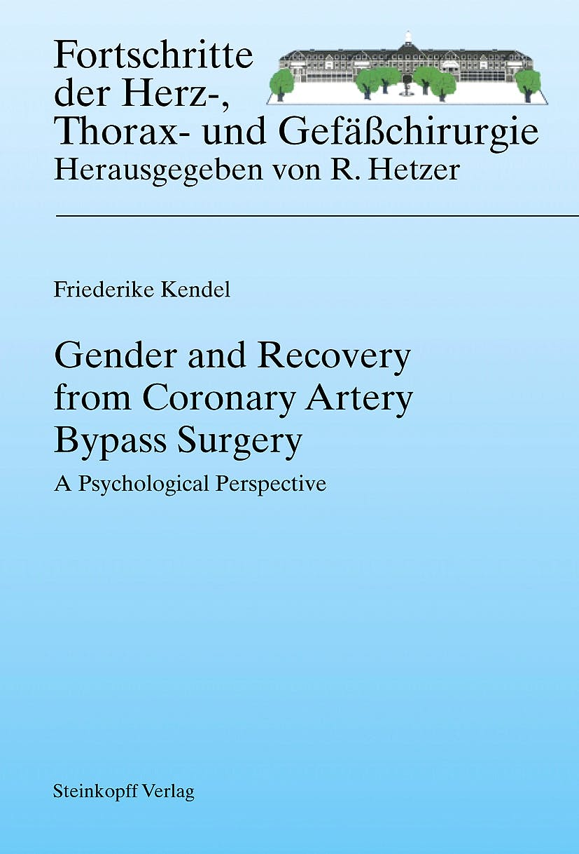 Portada del libro 9783798518551 Gender and Recovery from Coronary Artery Bypass Surgery