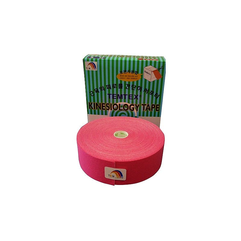 Temtex Kinesiology Tape: Caja de 1 Rollo de 32 m. x 5 cm., Color Rosa