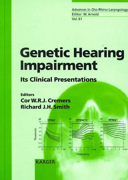 Portada del libro 9783805574495 Genetic Hearing Impairment