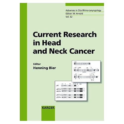 Portada del libro 9783805577892 Current Research in Head and Neck Cancer