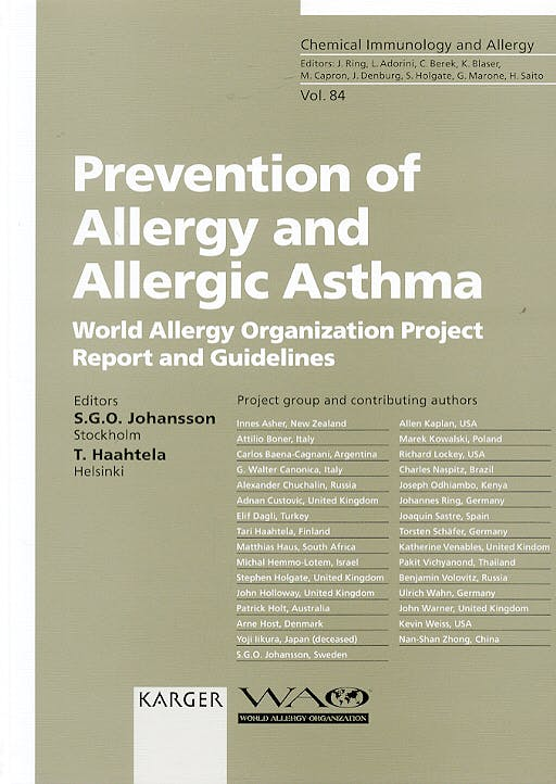 Portada del libro 9783805578103 Prevention of Allergy and Allergic Asthma