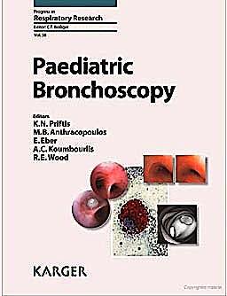 Portada del libro 9783805593106 Paediatric Bronchoscopy + Online (Progress in Respiratory Research, Vol. 38)