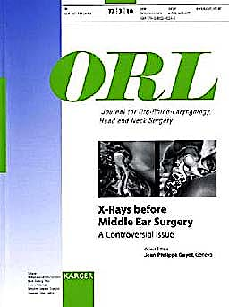 Portada del libro 9783805595339 X-Rays before Middle Ear Surgery. a Controversial Issue (Orl, Vol. 72 Nº 3)