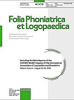 Portada del libro 9783805595391 International Association of Logopedics and Phoniatrics (Folia Phoniatrica Et Logopaedica, Vol. 62 Nº 4)
