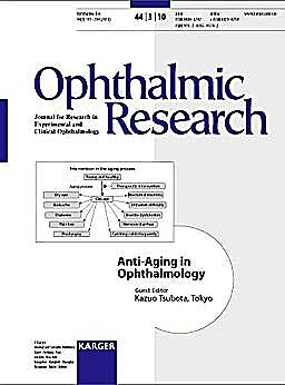 Portada del libro 9783805595742 Anti-Aging in Ophthalmology (Ophthalmic Research, Vol. 44 Nº 3)