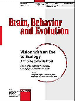 Portada del libro 9783805595803 Vision with an Eye to Ecology. a Tribute to Barrie Frost (Brain, Behavior and Evolution, Vol. 75 Nº 3)