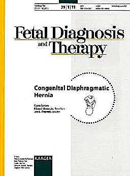Portada del libro 9783805597036 Congenital Diaphragmatic Hernia. Special Issue: Fetal Diagnosis and Therapy 2011, Vol. 29, No. 1