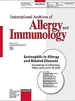 Portada del libro 9783805597654 Eosinophils in Allergy and Related Diseases (International Archives of Allergy and Immunology 2011, Vol. 155, Suppl. 1)